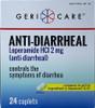 Geri-Care Anti-Diarrheal Loperamide HCI, 2 mg, 24 Caplets, 381-24B-GCP, 1 Box