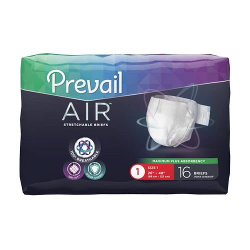 Prevail Air Stretchable Diapers with Tabs - Maximum Plus