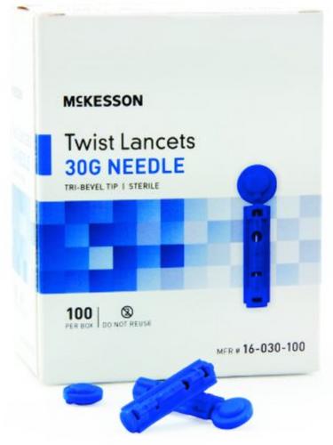 McKesson Twist Top Lancet Needle - 1.8 mm Depth