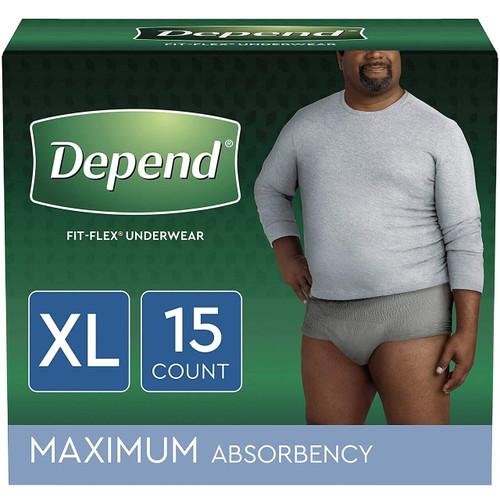 Depend Fit-Flex Pull-Up Underwear for Men, Maximum