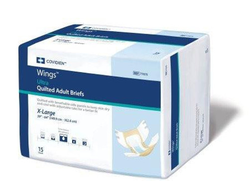 Cardinal Wings Quilted Adult Diapers with Tabs, Ultra