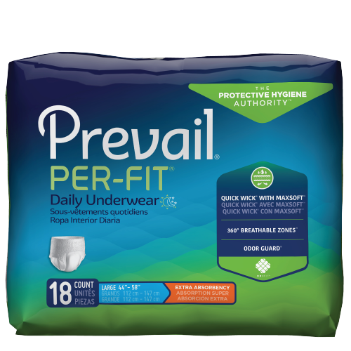Prevail Per-Fit Pull-Up Underwear, Extra