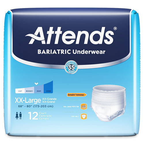Attends Bariatric Pull-Up Underwear, Moderate