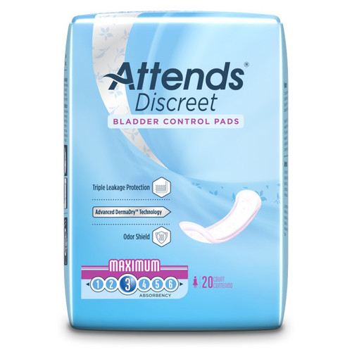 Attends Discreet Pads, Maximum
