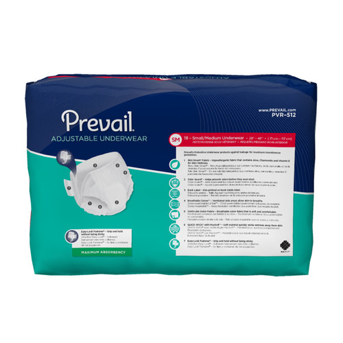 Prevail Adjustable Pull-Up Underwear, Maximum