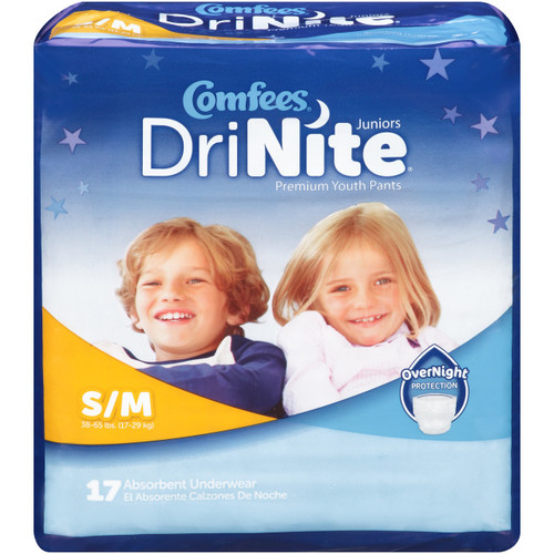 Comfees DriNite Premium Youth Pull-Up Underwear, Overnight