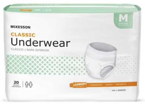 McKesson Classic Pull-Up Underwear, Light