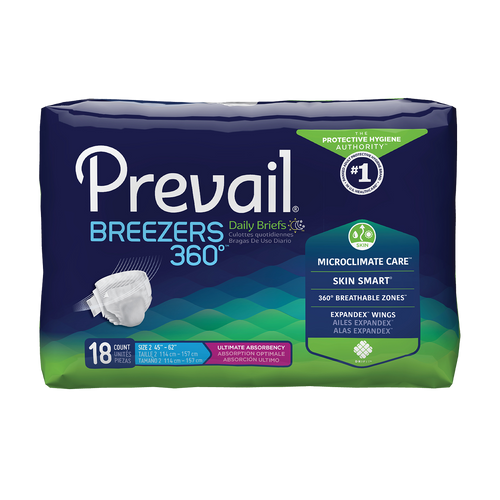Prevail Breezers 360 Adult Diapers with Tabs, Ultimate