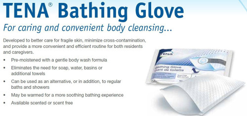 TENA Bathing Glove Wipes