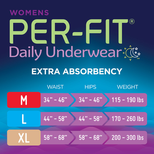 Prevail Per-Fit Pull-Up Underwear For Women, Extra
