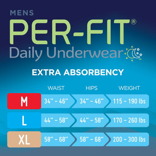 Prevail Per-Fit Pull-Up Underwear For Men, Extra