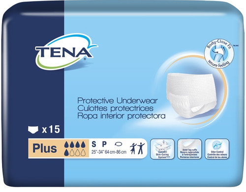TENA Plus Protective Incontinence Underwear, Moderate Absorbency