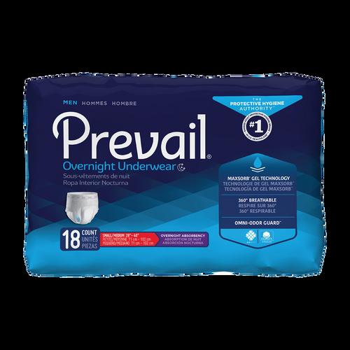 Prevail Overnight Pull-Up Underwear for Men, Overnight