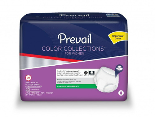 Prevail Color Collections Pull-Up Underwear for Women, Maximum