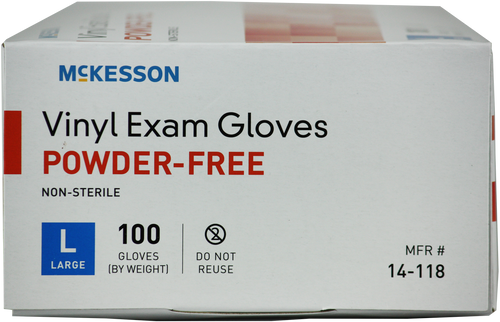 McKesson Vinyl Exam Gloves, Clear
