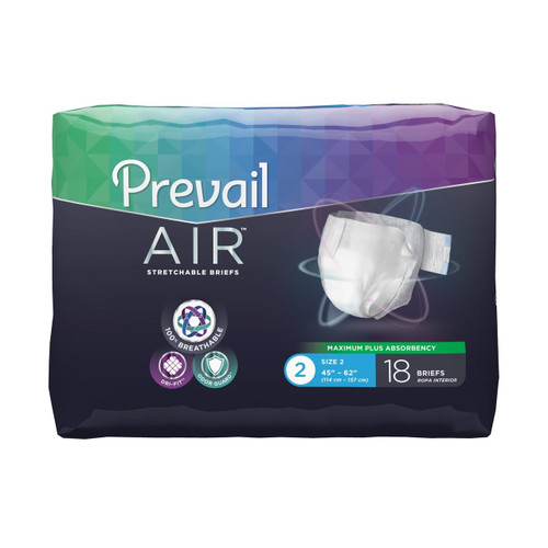 Prevail AIR Stretchable Adult Diapers with Tabs, Maximum Plus