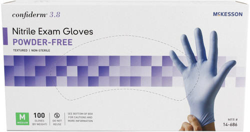 McKesson Confiderm 3.8 Powder-Free Nitrile Gloves