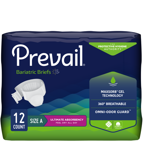 Prevail Bariatric Briefs with Tabs, Ultimate