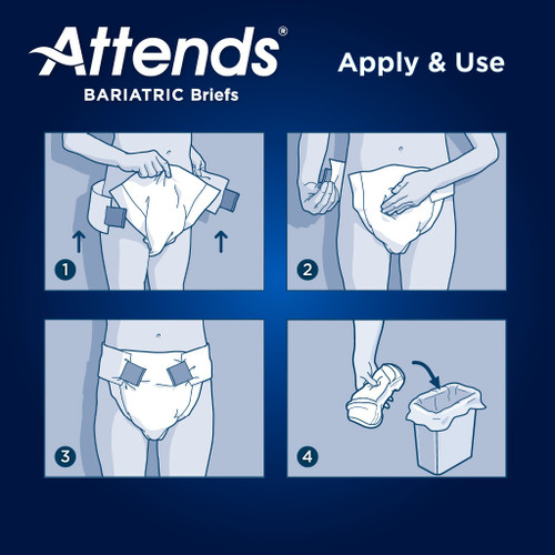 Attends Bariatric Adult Diaper with Tabs, Severe