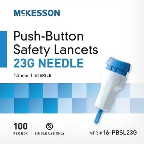 McKesson 23 Gauge Safety Lancets, 1.8 mm