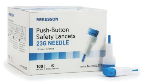 McKesson 23 Gauge Safety Lancets, 1.8 mm