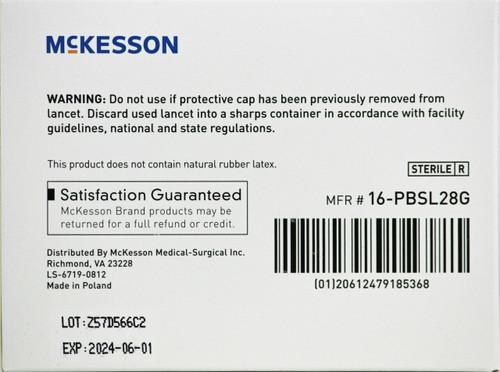 McKesson 28 Gauge Safety Lancets, 1.5 mm