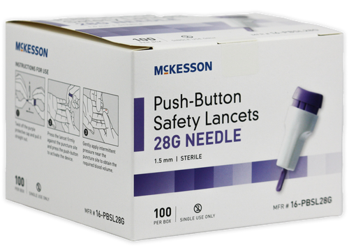 McKesson 28 Gauge Safety Lancets, 1.5 mm