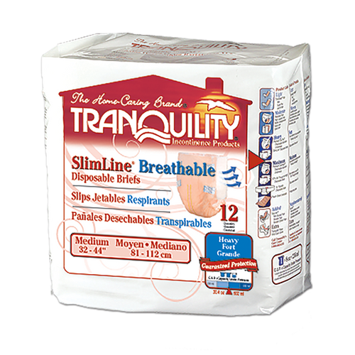 Tranquility SlimLine Breathable Disposable Adult Diapers with Tabs, Heavy