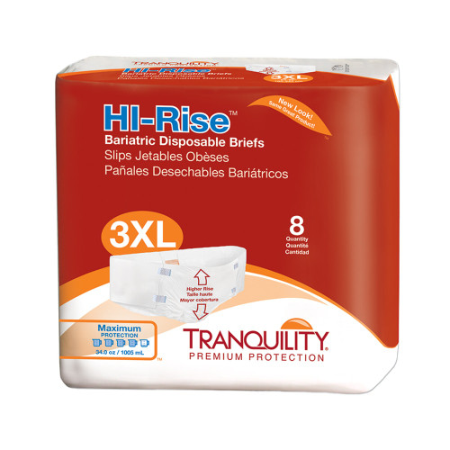 hi-rise bariatric disposable briefs