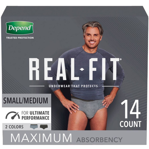 Depend Real-Fit Pull-Up Underwear for Men, Maximum