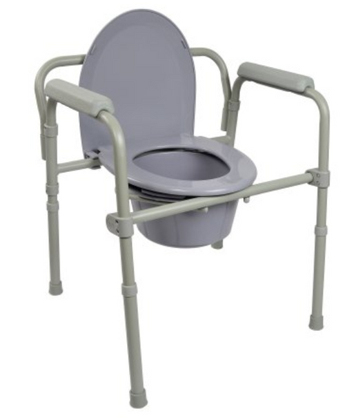 McKesson Commode Chair with Fixed Arm