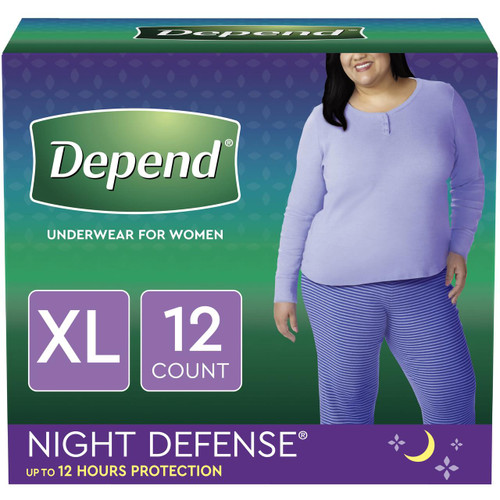 Depend Night Defense Pull-Up Underwear for Women, Overnight