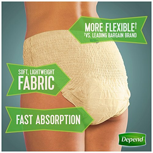 Depend Fit-Flex Pull-Up Underwear for Women, Maximum