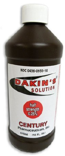Dakins Antimicrobial Wound Cleanser, 16 oz. Bottle