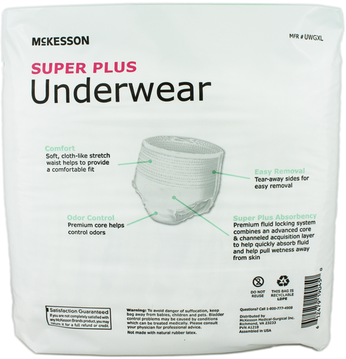 McKesson Super Plus Pull-Up Underwear, Moderate