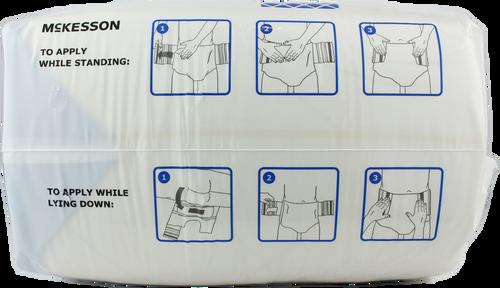 McKesson Ultra Plus Stretch Briefs with Tabs, Heavy
