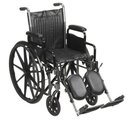 McKesson Wheelchair with Padded Arms, Swing-Away Footrest
