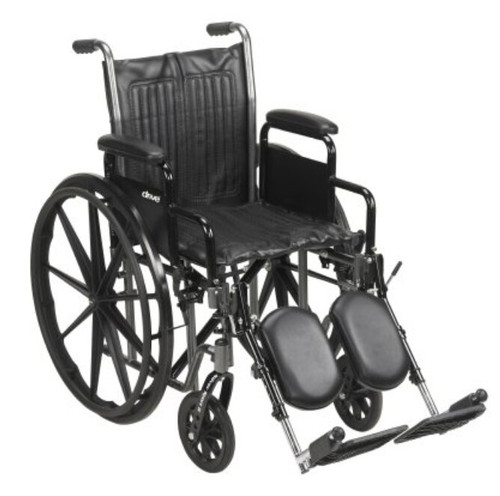 McKesson Wheelchair with Padded Arms, Swing-Away Elevating Footrest