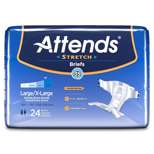 Attends Stretch Adult Diaper with Tabs