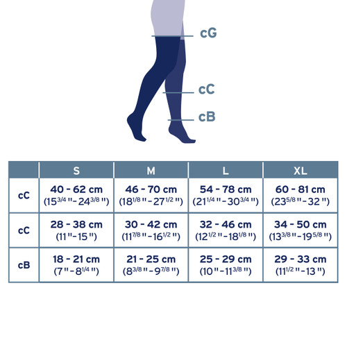JOBST Knee High Compression Stockings Size Guide
