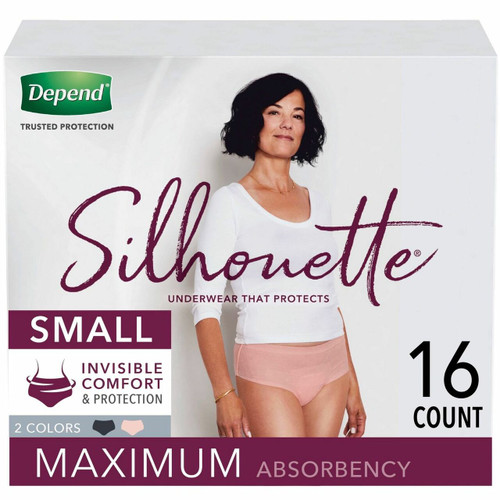 Depend Silhouette Pull-Up Underwear, Maximum