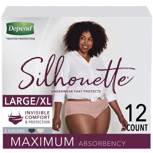 Depend Silhouette Pull-Up Underwear, Maximum