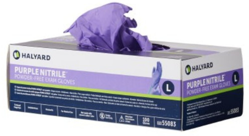 Halyard Chemo-Tested Nitrile Gloves, Purple