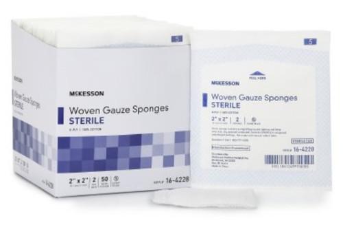 McKesson 8-Ply Gauze Sponges, Sterile