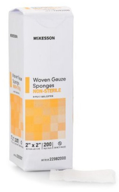 McKesson 8-Ply Gauze Sponges, NonSterile