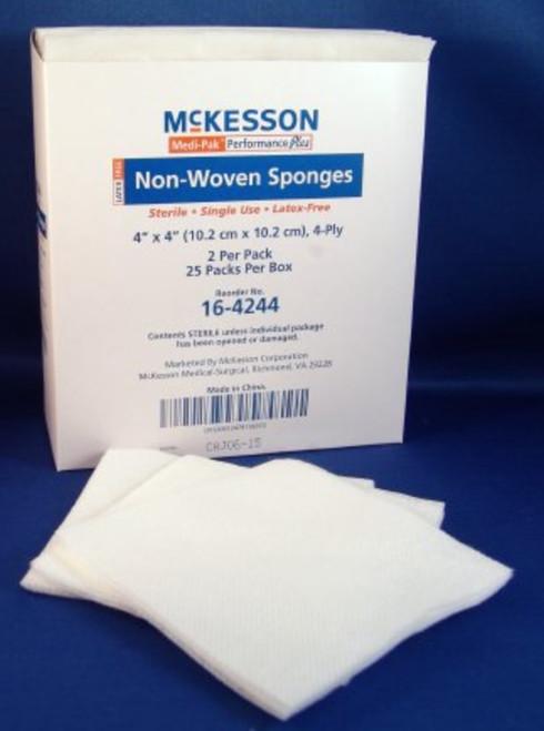 McKesson 4-Ply NonWoven Sponge, Sterile