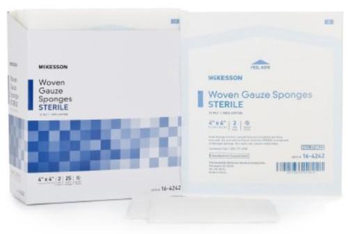 McKesson 12-Ply Gauze Sponges, Sterile