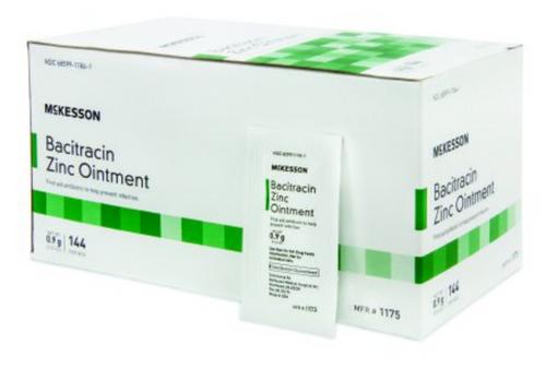 McKesson Antibiotic - Bacitracin Zinc Ointment Packet