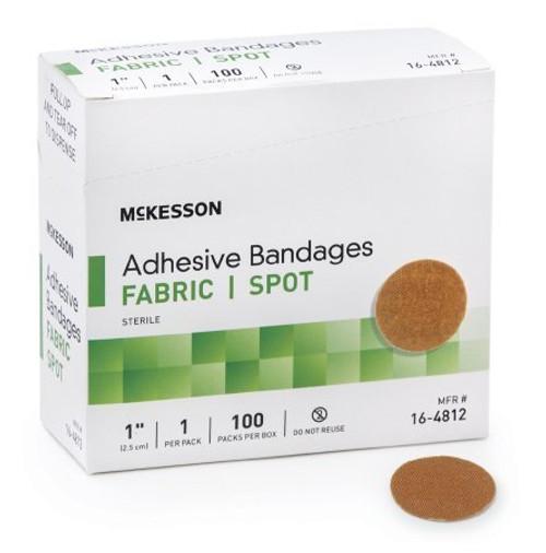 McKesson Adhesive Round Fabric Bandage, Sterile