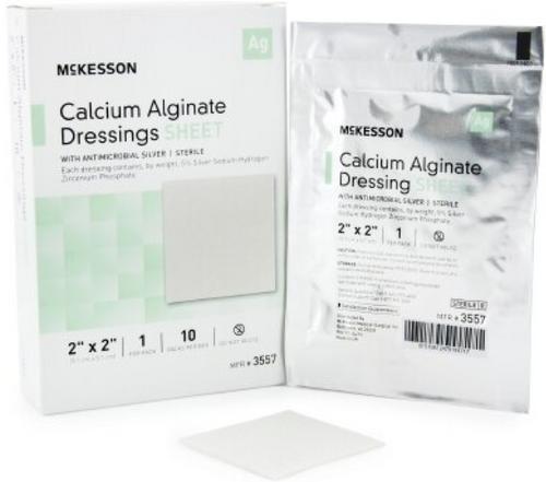 McKesson Calcium Alginate Dressing with Silver, Sterile
